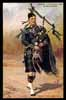Artist HARRY PAYNE, Argyll & Sutherland Highlanders, Piper full uniform