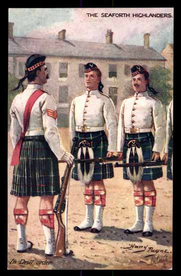 Artist HARRY PAYNE, the Seaforth Highlanders