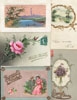 Lot of 31 postcards SILK flowers birds a.o.