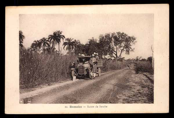 FRENCH SUDAN, MALI, Bamako, Route de Satuba, automobile
