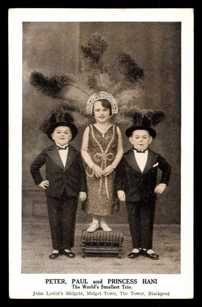 LILLIPUTIANS, Princess Hani and Midgets Peter and Paul smallest men on earth