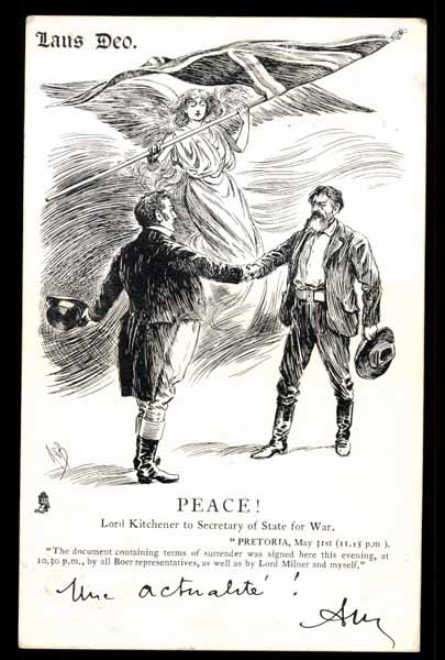 BOER WAR, Peace, Lord Kitchener to Secretary of State for War