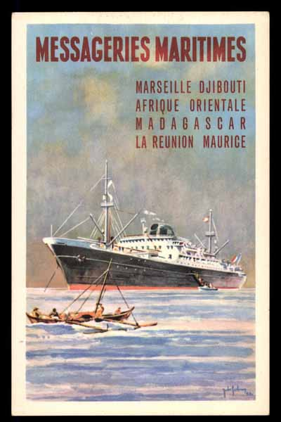 MESSAGERIES MARITIMES, Afrique Orientale poster art