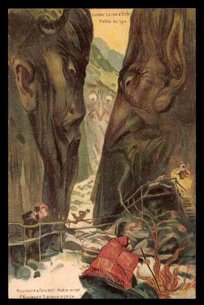 "SURREALISM, ""Vallee du Lys\"", faces in the mountains, Killinger 127"