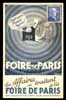 Foire de Paris 1948, MAXIMUM postcard, premier jour, First day,