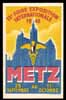 EXPOSITION Metz 1948, MAXIMUM postcard, premier jour, First day