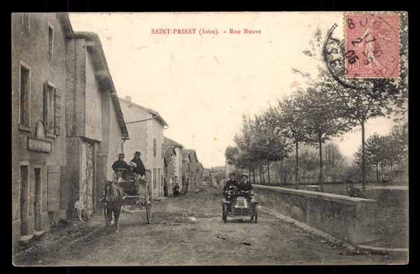 FRANCE, Saint-Priest, Rue Neuve automobile, animé (38)