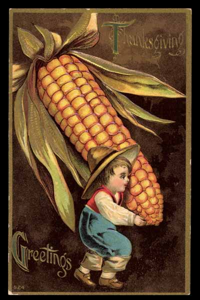 THANKSGIVING-DAY, maize, embossed