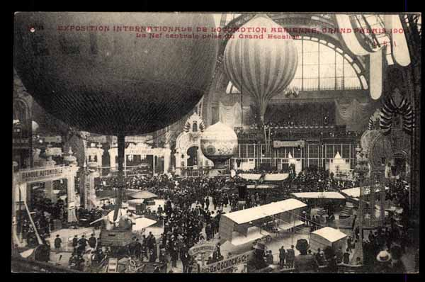 EXPOSITION de Locomotion Aerienne, Paris, 1909, BALLON