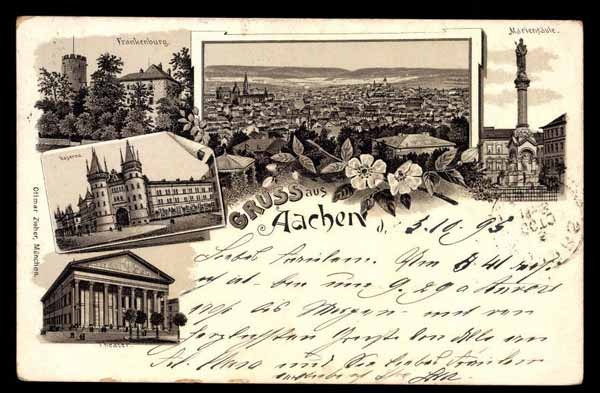 GERMANY, Gruss aus Aachen, various images, LITHO