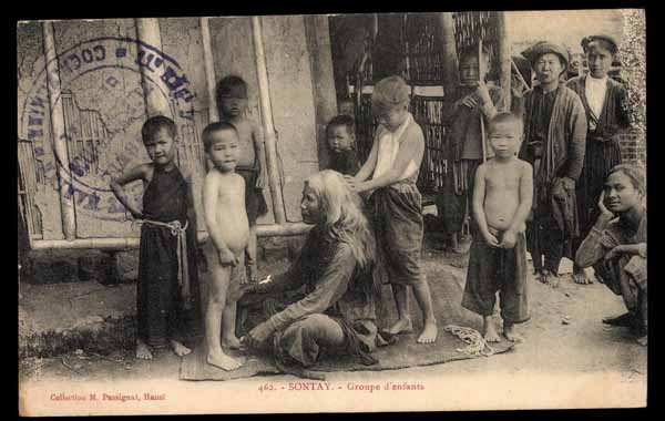 INDOCHINA, Sontay, Groupe d\'enfants