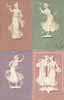 Lot of 8 postcards WOMAN from serie WEDGEWOOD figures