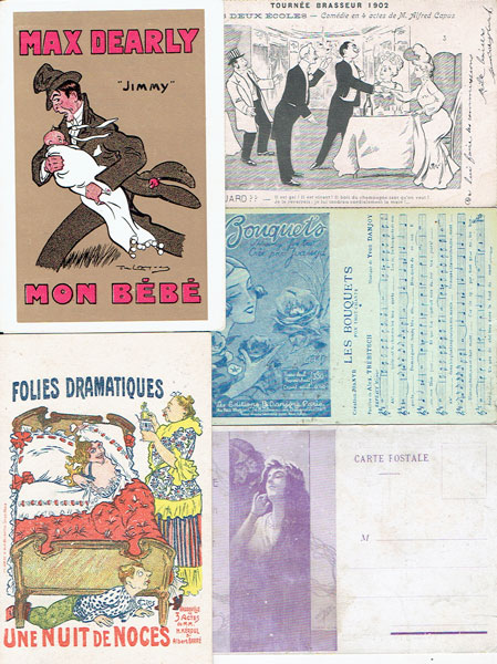 Lot of 21 postcards AFFICHES theatre plays, POSTER ART