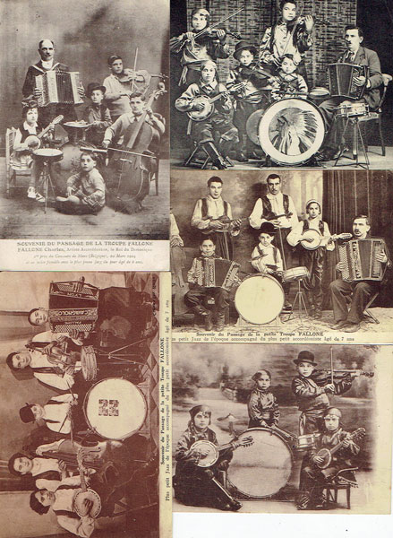 Lot of 5 postcards YOUTH MUSIC COMPAGNY, petite musique troupe enfants, France
