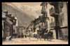 FRANCE, Chamonix, Rue Nationale, mail coach, animé (74)